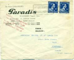 Belgique - No 692 Sur Lettre De Gand Vers Montréal (double Port), See Scan - 1936-1957 Offener Kragen