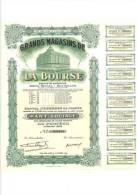 Gands Magasins De La Bourse 6/10/1944 Bruxelles Part Sociale - Shareholdings