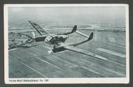WW II  GERMANY  FOCKE WULF LUFTWAFFE  AIRPLANE  FW 189 , OLD POSTCARD - 1939-1945: 2. Weltkrieg
