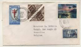 Philippines - 4 Stamps - 4 Timbres - 4 Postzegels + Enveloppe - Omslag - Philippines