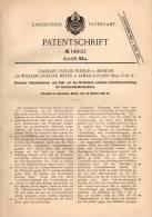 Original Patentschrift - W. Meyer In Jamaica Plain Und Boston , 1900 , Schuhwerk - Nähmaschine , Schuhe , Schuhmacher !! - Tools
