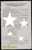 TRES RARE !! LETTRE D'ELECTION DATEE MONTELIMAR 4 MAI 1849 !! BONAPARTE Et NOMS DES AUTRES CANDIDATS - Vieux Papiers