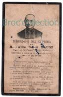 Saint-Juste-d´Avray, Mémento De L´abbé Benoît Maugé, 13/01/1909, Souvenir Mortuaire - Devotieprenten