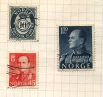 Norge - 3 Stamps - 3 Timbres - 3 Postzegels - Norvège