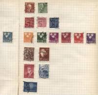 Sverige - 17 Stamps - 17 Timbres - 17 Postzegels - Suède