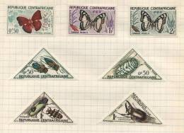 Republic Of Central Africa - 7 Stamps - 7 Timbres - 7 Postzegels - Centraal-Afrikaanse Republiek