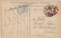 11^ DIVISIONE  - 116° Fanteria (Uff. P.M.)  /  TORINO  -  3.1.1917 _ Cartolina Postale In Franchigia - Censura - 1900-44 Victor Emmanuel III