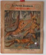 """Journaux, """"Le Petit Journal"""" Illustr� - N�1880 - 38� ann�e - Tragique combat contre un tigre - Frais de port : �1.95"""