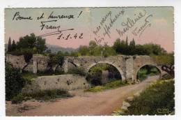 Carte Postale CUERS LES CINQ PONTS écrite Pour La Bonne Année 1942 VAR 83 ETAT MEDIOCRE - Cuers