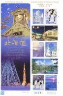 Japan 2011 Block Landscapes : Hokkaido From Winter To Spring  * * Sapporo Snow Festival, Penguin, Orthodox Church Hakoda - Blocks & Sheetlets
