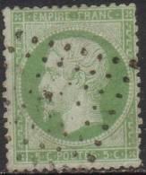 "France N° 20 Obl. Oblitération "" Ancre "" Cote : 170.00 € - 1862 Napoléon III"