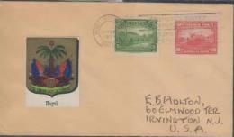M)HAITI 1934, HAITI COVER TO USA,OLD WATERPIPELINE AND FARMING, ACUEDU DU PRINCE AND NATIONAL FORT 1934        , - Haiti
