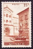 Monaco - N°  170 * Place Saint Nicolas - 25 Ct Brun-rouge - Monaco