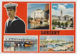 LORIENT EN 1977 - MULTIVUES AVEC PORT - Lorient