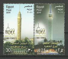 Egypt 2011 ( 50th Anniv. Of The Tower Of Cairo ) - Pair - MNH (**) - Nuovi