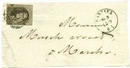 Belgique - No 10 Sur Devant Lettre De Barvaux (P12) Vers Marche Du 23/09/1861, 4 Marges, See Scan - 1858-1862 Medaillen (9/12)