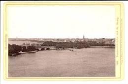 HAMBOURG - Allemagne -  4 Photos Format Cabinet Contrecollées Sur Carton Fort