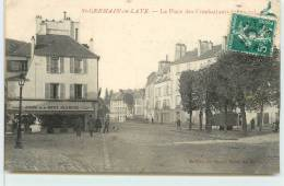 SAINT GERMAIN EN LAYE  -  La Place Des Combattants(carte Vendue En L'état) - St. Germain En Laye