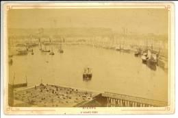 DIEPPE - Seine Maritime - L'Avant Port -  Photo Format Cabinet Contrecollée Sur Carton Fort - Fotos