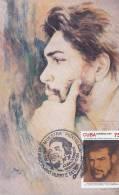 Ernesto Che Guevara With Stamps Che  Cuba 40 Anniversario Muerte Del Che - Argentine