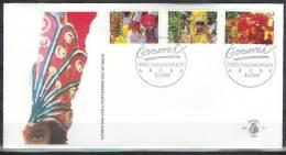 Mzl019fb CARNAVAL LICHTOPTOCHT ARUBA 1989 FDC - Carnaval