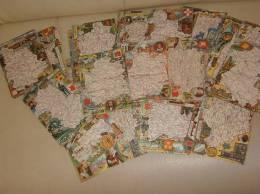 Lot De 89 Cartes Postales Carte Geographique Departements Blondel La Rougery A Saisir - France