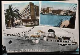 1954 SALUTI DA CIVITAVECCHIA FG V SEE 2 SCAN - Civitavecchia