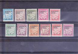 OUBANGUI - TAXE - YVERT N° 1/11 * - COTE = 38 EUROS - CHARNIERES PROPRES - Unused Stamps