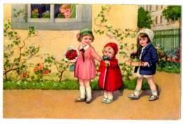 CPA Fantaisie Enfants Et Cadeaux - Janser