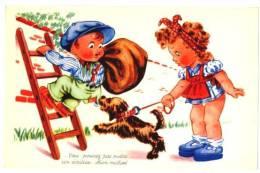 CPA Fantaisie Enfants Et Chien - Janser