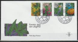 Mzl058fb FLORA GROENTE POMPOEN JAMBO PAMPUNA VEGETABLES GEMÜSEPFLANZEN ARUBA 1995 FDC - Vegetables