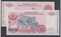 Republika Srpska Bosnia And Herzegovina Paper Money Bills 10000000 1994 UNCIRCULAR ** - Bosnia Erzegovina