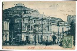 CARTOLINA TEATRO MERCADANTE NAPOLI CAMPANIA - Napoli (Naples)