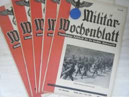 """Lot 5 Revues """"Militar Wochenblatt"""" 1940 - 1939-45"""