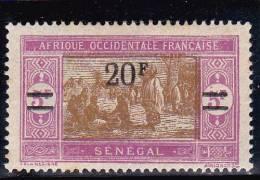 SENEGAL - YVERT N° 101a * VARIETE SANS POINT APRES F - COTE = 35 EUROS - PETIT DEFAUT AU DOS - Senegal (1887-1944)