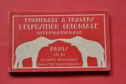 Carnet 24 Cartes Sur L'exposition Coloniale Internationale De Paris 1931 - BRAUN & Cie - Ausstellungen