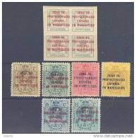 MA57STV-LFT3864TAN.Maroc .Marocco.MARRUECOS ESPAÑOL Alfonso Xlll.1916/20.(Ed 57/63**)sin Charnela.LUJO CERTIFICADO - 1889-1931 Reino: Alfonso XIII