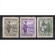 GUI264STV-LFT31621TTOT.Guinee. GUINEA   ESPAÑOLA ..Tipos Diversos.1941 (Ed 264/6**)sin Charnela. MUY BONITA. - Transporte