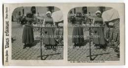 FOTOGRAFIA STEREOSCOPICA COSTUMI TIPICI TIVOLI ROMA LAZIO - Stereoscopi