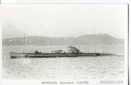 CPSM FORMAT CPA  -  MARSOUIN SOUS-MARIN 14-8-1928 - Guerra