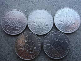 FRANCIA - LOTTO  MONETE  VARI ANNI  (1960X3,1965 E 1966 ) - Francia