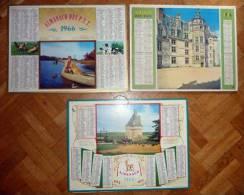 Lots De 3 CALENDRIERS, ALMANACH DES PTT 1966 . Touffou, Meillant, Grandchamp, Chasse - Petit Format : 1961-70
