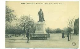 30/UZES, Promenade Des Marronniers, Statue Du Vice-Amiral De Brueys - Uzès