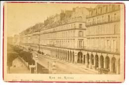 Paris, Rue De Rivoli - Photo Format  Cabinet Contrecollée Sur Carton Fort - Oud (voor 1900)