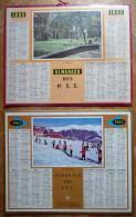 Lots De 2 CALENDRIERS, ALMANACH DES PTT 1963. Trianon, Ski - Calendriers