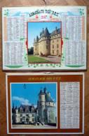 Lots De 2 CALENDRIERS, ALMANACH DES PTT 1967. Château De Pompadour, Chenonceaux, Brissac - Calendriers