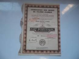 MINES DE FALEME-GAMBIE (bénéficiaire) - Shareholdings