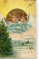 ANGES Au Dessus D'un Nuage - Joyeux Noël - Dos Simple - Anges