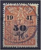 1941 GERICHTSKOSTENMARKE SS WWII STEUER FISCAUX TRIBUNAL COURT FEE REVENUE GERMANY 3rd REICH ETAT !!! - Allemagne