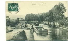 71/CHAGNY, Vue Sur Le Canal (péniche) - Chagny